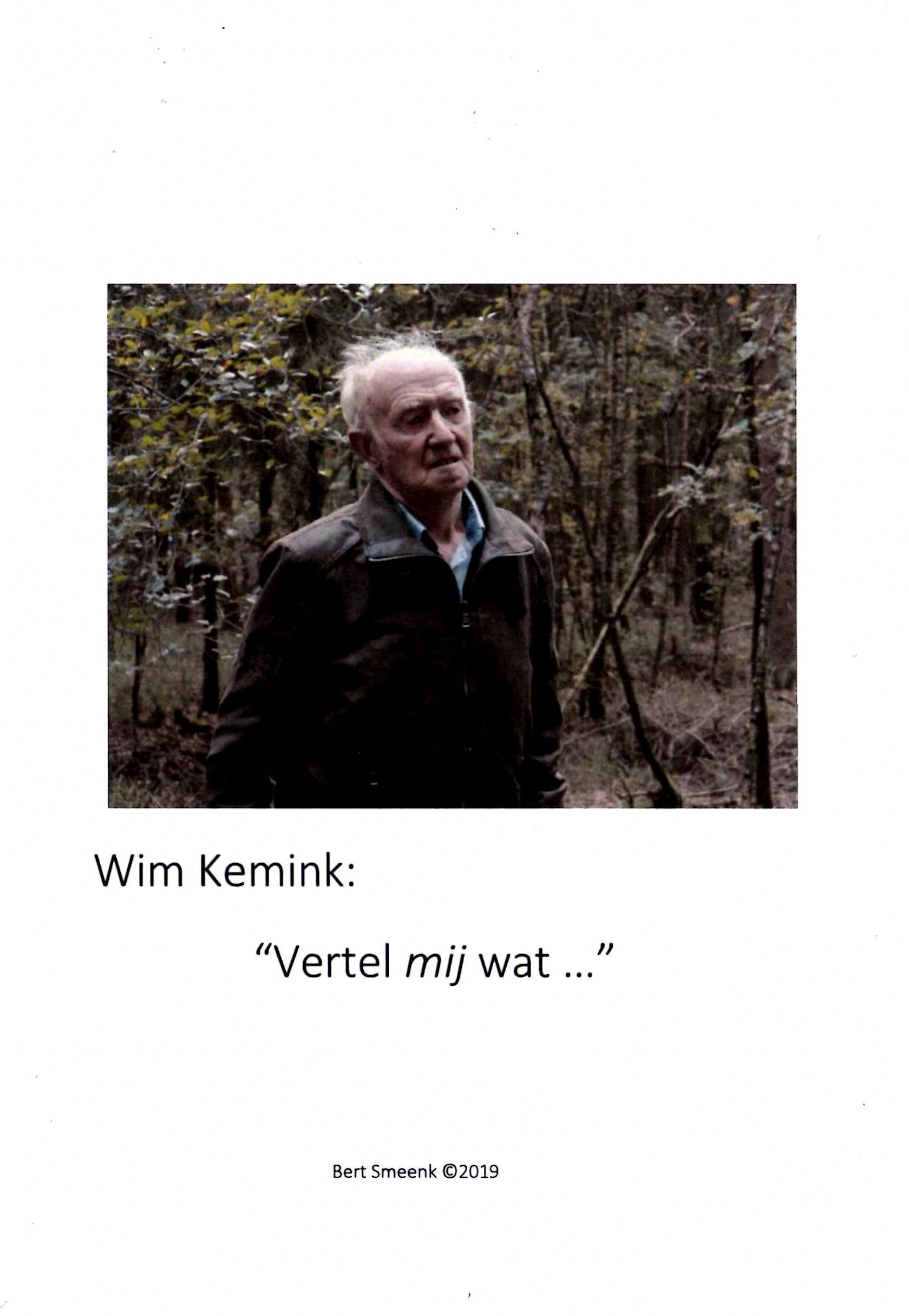 omslag Wim Kemink